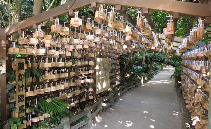 青島神社の祈りの古道